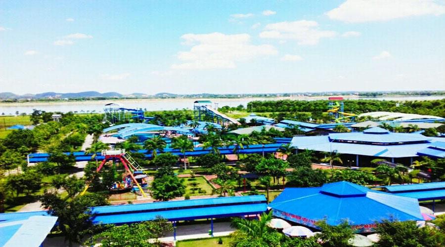 Khuôn viên vui chơi KDL Đảo Ngọc Xanh